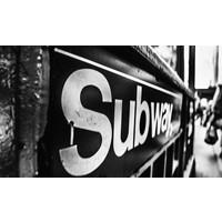 Aluminium Dibond schilderij 118x70cm Subway