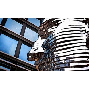 Aluminium Dibond schilderij 118x70cm Stainless