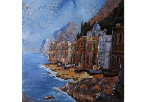 Metalen schilderij 3d 100x100cm Gibraltar