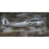Schilderij 3d metaal 70x140cm 2-dekker