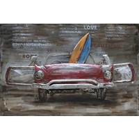Schilderij 3d metaal 80x120cm Free Time
