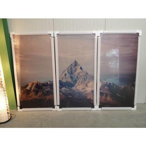 Eliassen 3luik glasschilderij XXL Berg