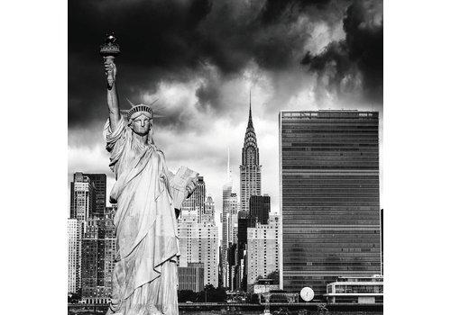 Foto op glasschilderij 100x100cm Lady Liberty