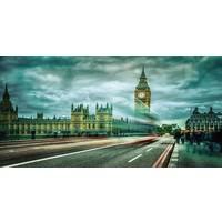 Foto op glasschilderij 80x160cm Londen