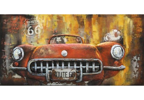 3d schilderij Sportscar 60x120cm