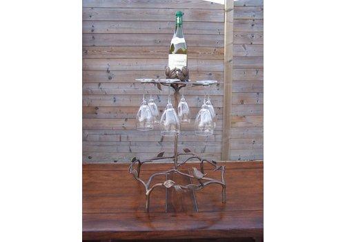 Bronzen wijnglasrek
