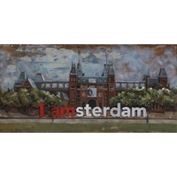 3D schilderij Rijksmuseum 70x140cm