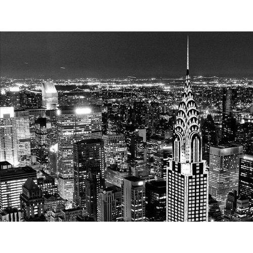 Eliassen Foto schilderij glitter 114x80cm New York bij nacht