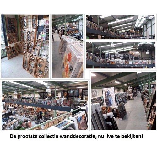 Ter Halle Glas schilderij Oud Hospitaal 100x150cm