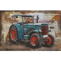Metalen 3d schilderij Hanomag 120x80cm