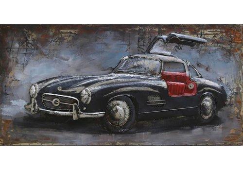 Metaal schilderij Mercedes1 120x60cm