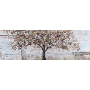 Eliassen Olie op hout schilderij Tree 2 50x150cm