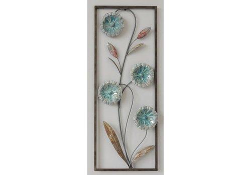 Wanddecoratie Bloemen 2 28x73cm