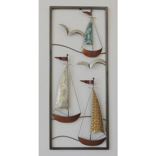 Eliassen Wanddecoratie Boten 3 25x60cm