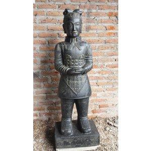 Eliassen Stenen beeld Chinese krijger 200cm