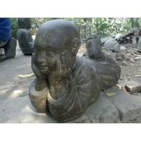 Kindermonnik beeld liggend in 6 maten boeddistisch