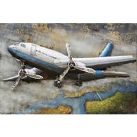 Metaal 3D schilderij Cityhopper 80x120cm