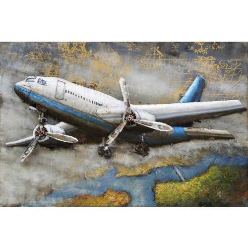 Eliassen Metaal 3D schilderij Cityhopper 80x120cm