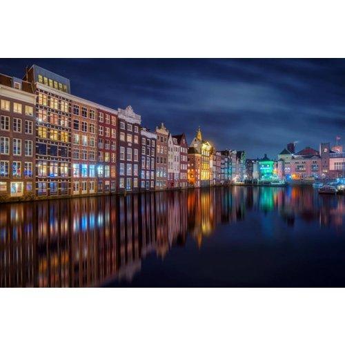 Eliassen Glasschilderij 120x80cm Amsterdam 1