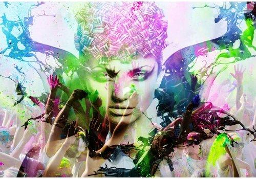 Glas schilderij 110x160x0,4cm Kleurrijk