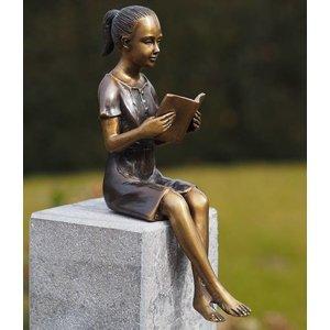 Eliassen Beeld brons Klein lezend meisje
