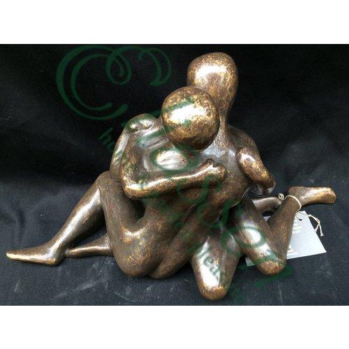Eliassen Bronzen beeld Modern verliefd koppel