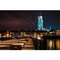 Fotoschilderij op canvas 114x80cm Amsterdam by night