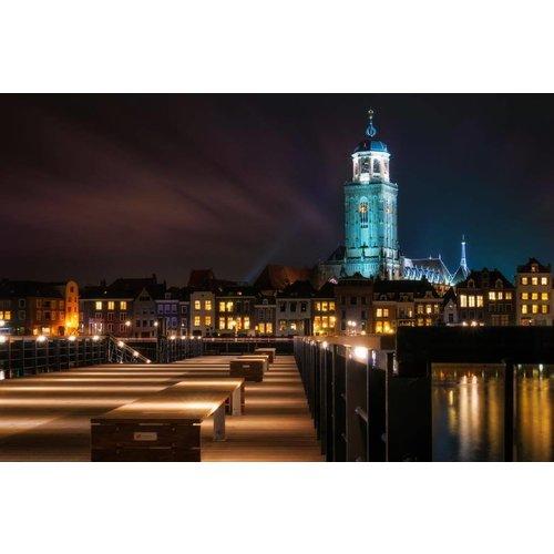 Eliassen Fotoschilderij op canvas 114x80cm Amsterdam by night