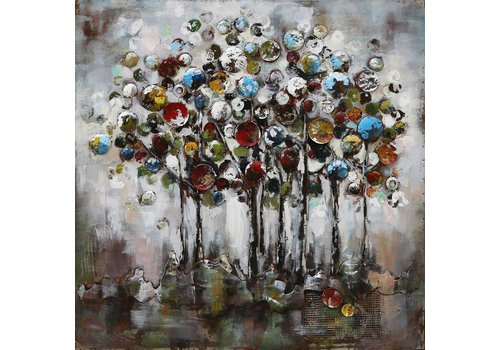 3-d schilderij 100x100cm Fantasie bomen