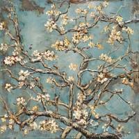 Schilderij metaal 3d Springtime 100x100cm
