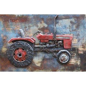 Eliassen Schilderij metaal 3d Traktor 80x120cm