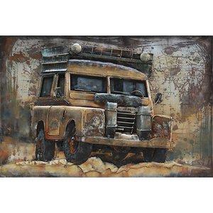 Eliassen metalen schilderij 3d 120x80cm Off Road