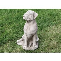 Tuinbeeld grote Boxer hond
