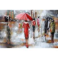 3D Metalen schilderij 80x120cm Raintime