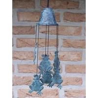 Windgong brons met kikkers
