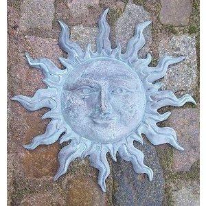 Eliassen Muurdecoratie brons kleine groene zon