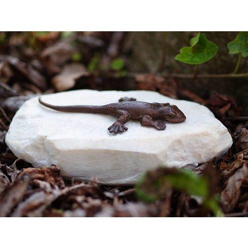 Eliassen Beeld brons hagedis op steen