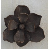 Deurklopper brons bloem