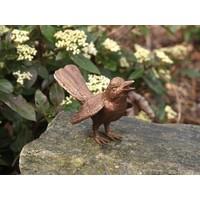 Beeld brons vogel met gespreide vleugels