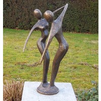 Beeld brons moderne danspaar