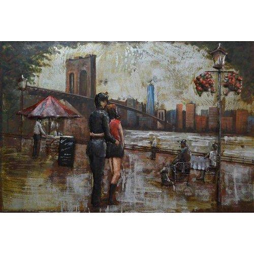 Eliassen 3D schilderij metaal 80x120cm In Love