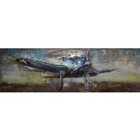3D schilderij metaal 180x60cm Hunter