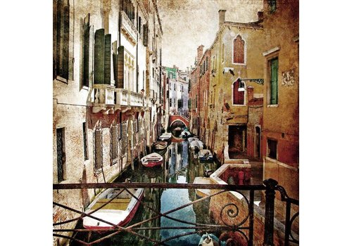 Schilderij glas 80x80cm Venetie