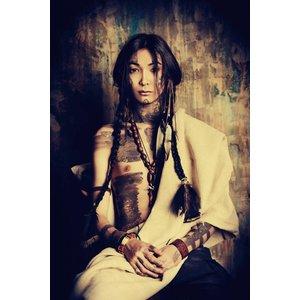 Eliassen Glas-schilderij 120x80cm Indian Girl