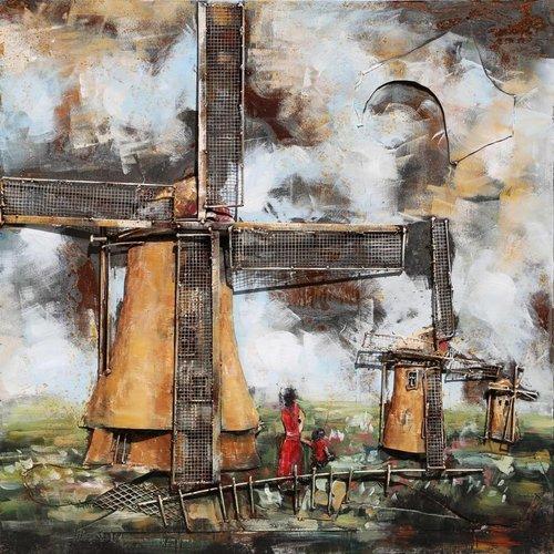 Eliassen 3D schilderij metaal 100x100cm Holland