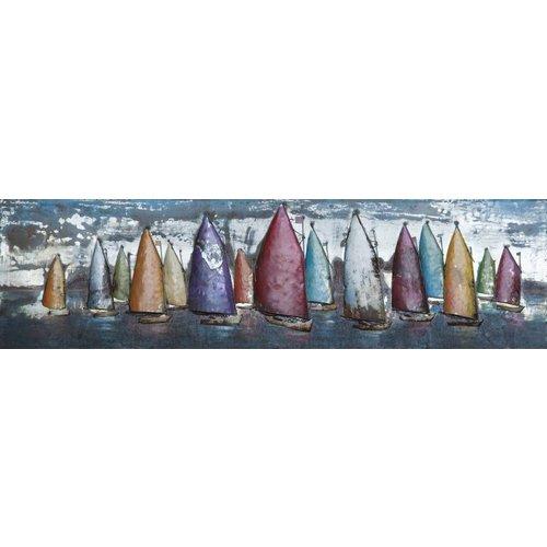 Eliassen 3D schilderij metaal 50x180cm Sailing