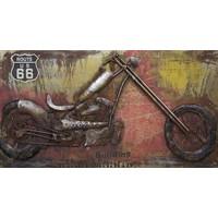 3D schilderij metaal 70x140cm Harley Life