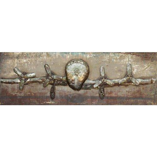 Eliassen 3D schilderij metaal 60x180cm Plane