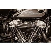 Glas-schilderij 60x90cm Harley Power