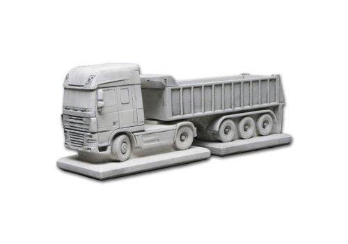 Bloembak beton Daf met trailer